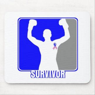 Male Breast Cancer Winning Survivor Mouse Pad