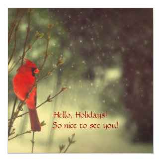 Male Cardinal Personalized Invites