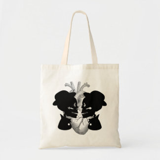 Male Couple Skeleton Tote Bag