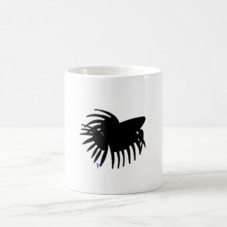 Male Crowntail Betta Fish Mug - Black