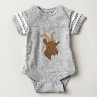 male cute goat face baby bodysuit