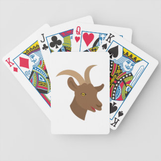 male cute goat face bicycle playing cards