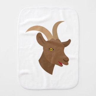 male cute goat face burp cloth