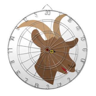 male cute goat face dartboard