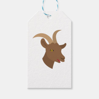 male cute goat face gift tags