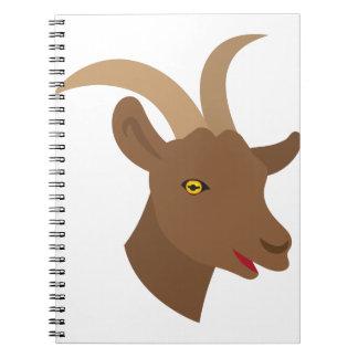 male cute goat face notebooks