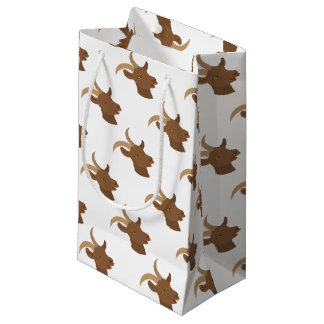 male cute goat face small gift bag