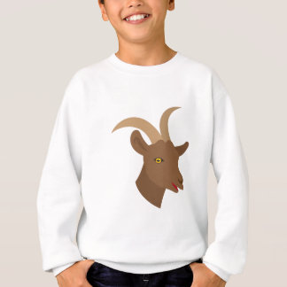 male cute goat face sweatshirt