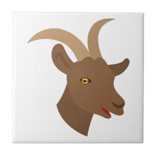 male cute goat face tile