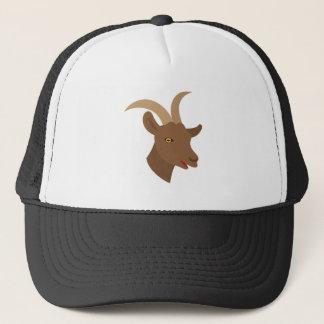 male cute goat face trucker hat