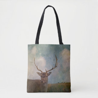 Male Deer with antlers Tote Bag