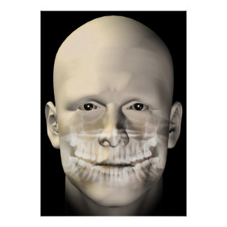 male dental scan poster