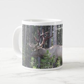 Male Elk, Grand Teton National Park, Photography Large Coffee Mug