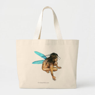 male faerie large tote bag