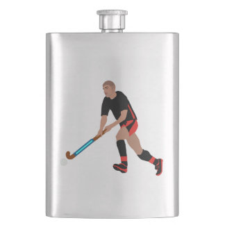 Male Field Hockey Player Hip Flask