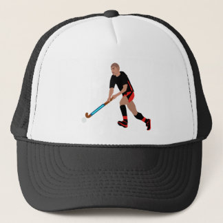 Male Field Hockey Player Trucker Hat