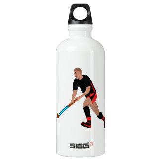 Male Field Hockey Player Water Bottle