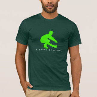 Male Figure Skater Silhouette T-Shirt