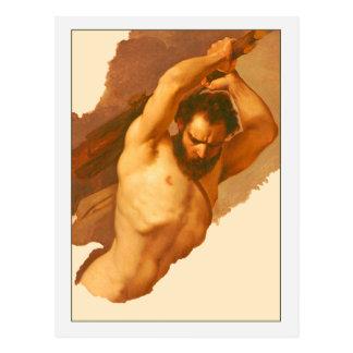Male Figure Study by Giuseppe Bezzuoli Postcard
