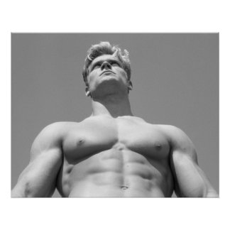 Male Fitnes Model Poster For Gym Wall