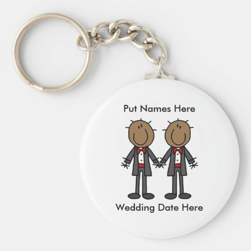 Male Gay Wedding To Customize Key Chains