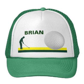 Male Golf hat customizable