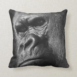 Male Gorilla Throw Pillow