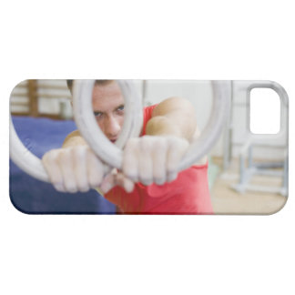 Male gymnast on rings case for the iPhone 5