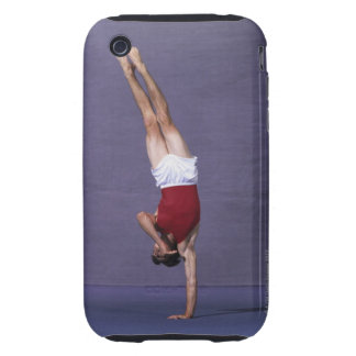 Male gymnast performing on the floor exercise 2 tough iPhone 3 cases