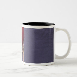 Male gymnast performing on the floor exercise 2 Two-Tone mug