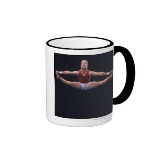 Male gymnast performing on the floor exercise ringer coffee mug