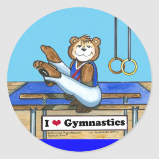 Male Gymnast Stickers