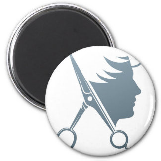 Male Hairdresser Hair Salon Scissors Man Concept Magnet