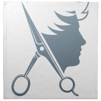 Male Hairdresser Hair Salon Scissors Man Concept Napkin