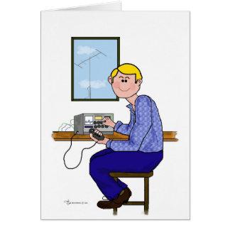 Male Ham Operator - Blonde Card