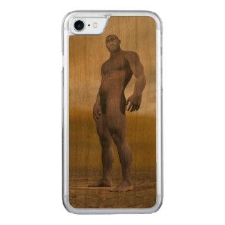 Male homo erectus - 3D render Carved iPhone 7 Case