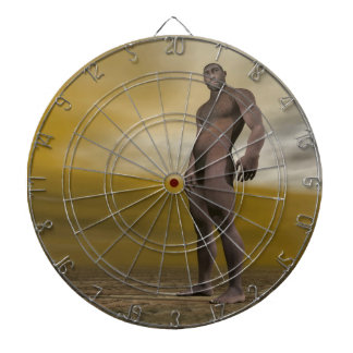 Male homo erectus - 3D render Dartboard