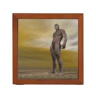 Male homo erectus - 3D render Desk Organizer