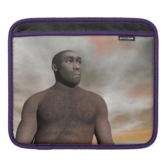 Male homo erectus - 3D render iPad Sleeve