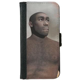 Male homo erectus - 3D render iPhone 6 Wallet Case