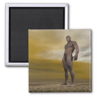 Male homo erectus - 3D render Magnet