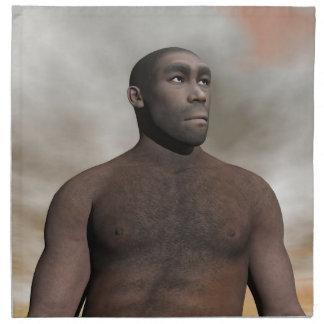 Male homo erectus - 3D render Napkin