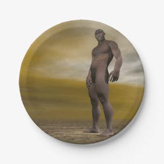 Male homo erectus - 3D render Paper Plate