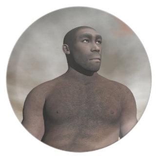 Male homo erectus - 3D render Party Plates