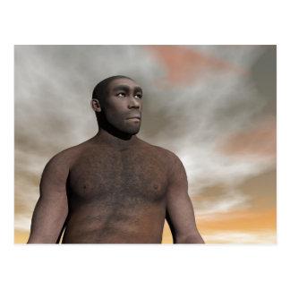 Male homo erectus - 3D render Postcard