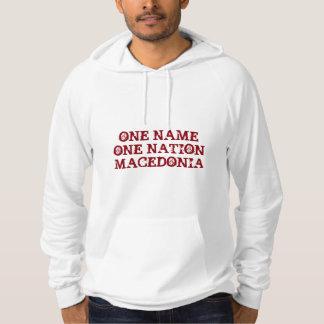 Male Hoodie: One name, one nation - Macedonia Hoodie