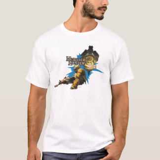 Male Hunter with Bowgun, Heavy Gunner with Ludroth T-Shirt