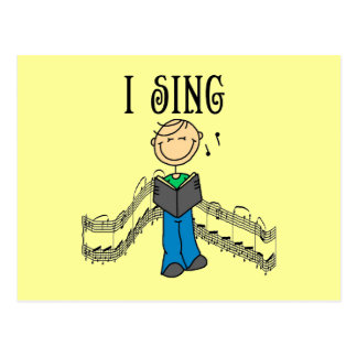 Male I Sing T-shirts and Gifts Post Cards