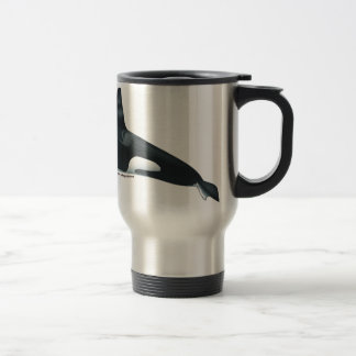Male Killer Whale Travel Mug
