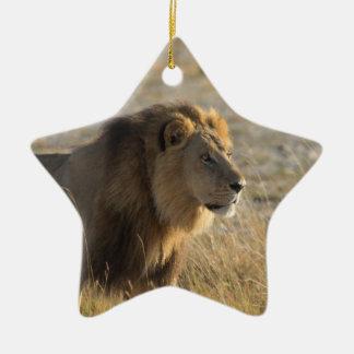 MALE LION 14  BOTSWANA CERAMIC ORNAMENT